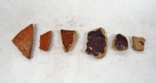 The pottery sherds found in the second bag of artifacts from SU 1211.
